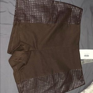 Brown boutique shorts